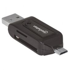 ADAPTADOR OTG MICRO USB A USB 2.0 CON LECTOR TARJETAS 24 EN 1 grande