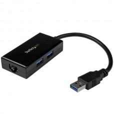 ADAPTADOR RED ETHERNET GIGABIT USB 3.0 CON HUB 2X USB grande