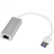 ADAPTADOR RED ETHERNET GIGABIT EXTERNO USB 3.0 PLATEADO grande