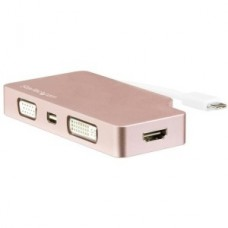 ADAPTADOR VIDEO USB-C A HDMI DVI VGA MINIDP ROSA DORADO grande