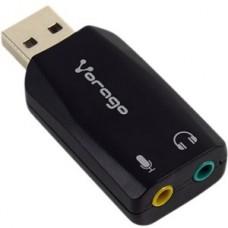 ADAPTADOR VORAGO ADP-201 USB AUDIO 3.5MM 5.1 MICROFONO grande